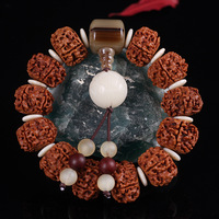 Natural Five Petal Vajra Bodhi Hand String Beads Nepal Tibetan Polished Bodhi Vajra Bodhi Lotus Root