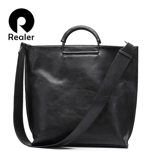 REALER extra grande sacola bolsa feminina grande ombro saco bolsa das mulheres cinta larga crossbody messenger bags senhoras embreagem