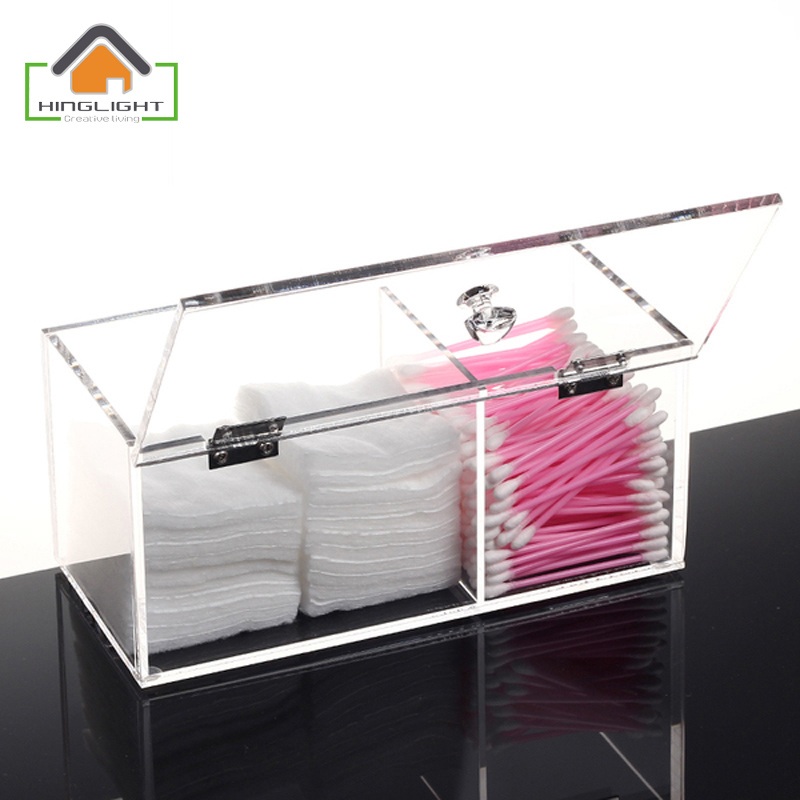 New Clamshell Design Clear Acrylic Cotton Swab Box Q Tip Storage Holder  Cosmetic Makeup Tool Women Storage Box BF312 3 In Storage Boxes U0026 Bins From  Home ...