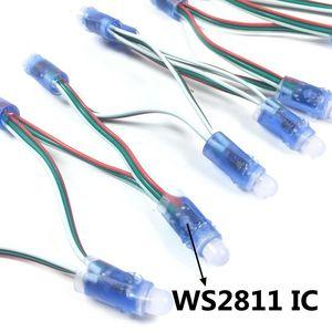 Image 2 - 50 قطعة/الوحدة 12 مللي متر WS2811 كامل اللون LED بكسل ضوء وحدة تيار مستمر 5 فولت مقاوم للماء IP68 RGB اللون 2811 IC الرقمية LED عيد الميلاد ضوء