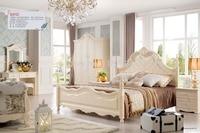 Цена 8012 оптовая цена производителя мебели заводская цена двуспальная кровать роскошный grand кровать деревянная кровать, мебель для спальни