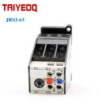 JRS2-63 termiczny przekaźnik przeciążeniowy 3UA59 elektryczne ochrony przekaźnika dla silnika 25A-40A 50A-63A 3P prąd regulowany przekaźnik 50/60Hz