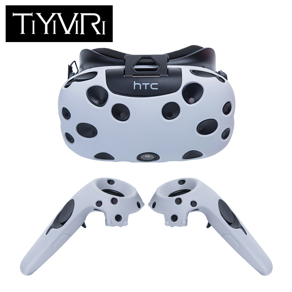 For HTC Vive Headset VR Silicone Case Cover VR Glasses Helmet Controller Handle Case Skin Shell Virtual Reality Accessories цена