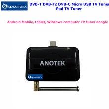 2017 Mejor Digital DVB-T2 DVB-T DVB-C Receptor de TV Pad TV Turner en vivo Android TV Receptor en Android Teléfono/Pad USB OTG