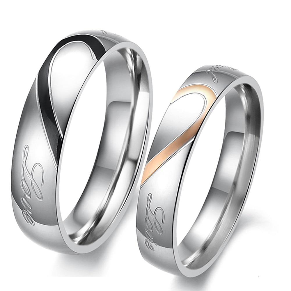 Fashion Perhiasan Unisex Padat Dipoles Stainless Steel Gadis Wanita pria Kekasih Pasangan Cincin US ukuran 5 6 7 8 9 10 11 12 13 14 15