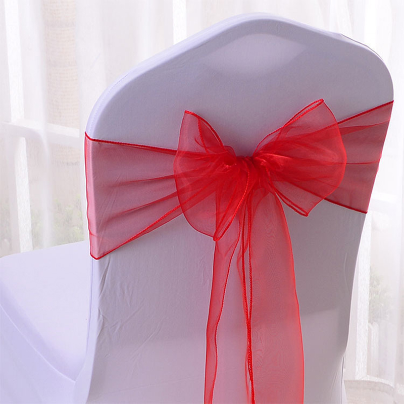 2 Pcs 18 275cm Organza Chair Sashes Bow Cover Polyester Tulle Chair Sashes for Weddings Events