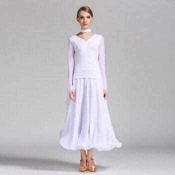 2018 New style fashion Ballroom Competition Dance Dress Women Tango Waltz Dancing Skirt Lady's High Quality Big swing skirt