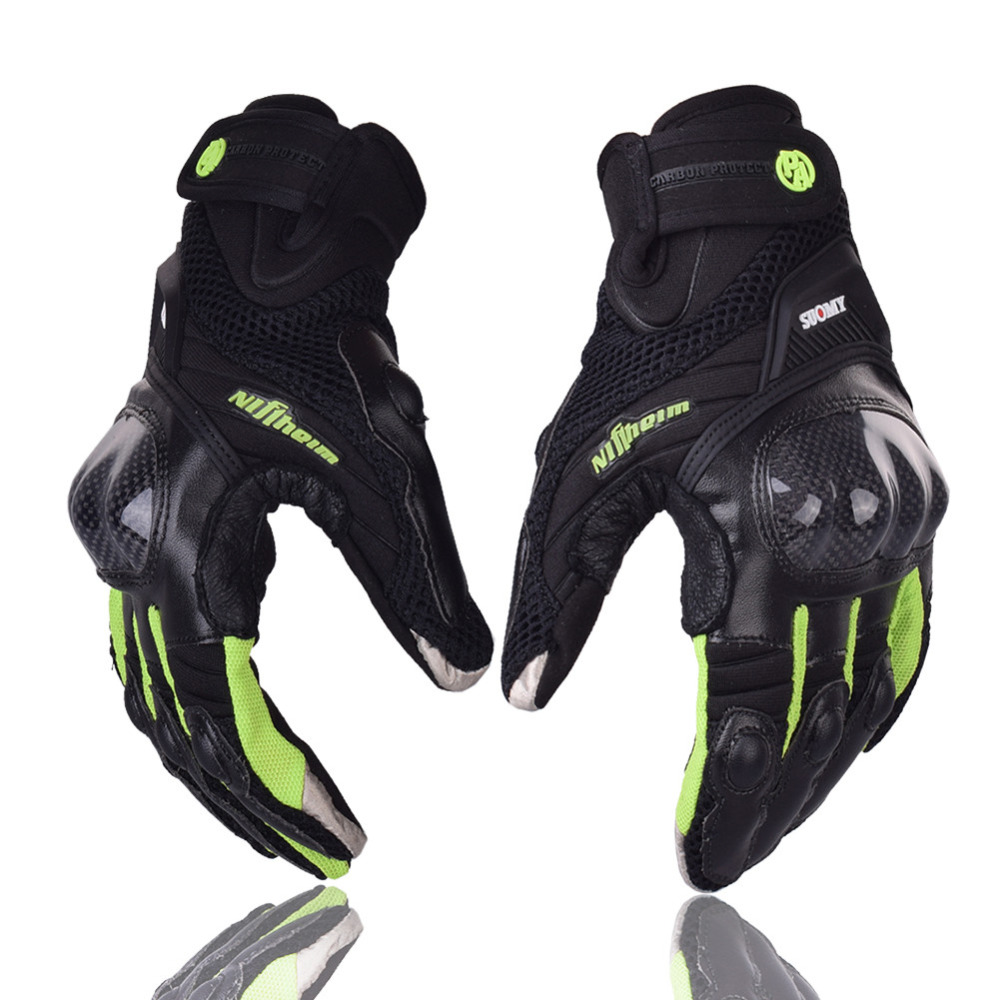 Carbon Shell Motorcycle Gloves Luva Motoqueiro Guantes Motor Motocicleta Luvas de moto Cycling Mountain Bike glove