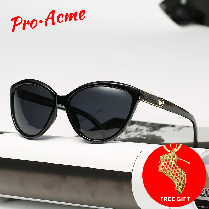 Sunglasses Women Lunette Retro Polarized Femme Pro Acme Eyewear Cat-Eye Soleil PB1223