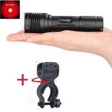 Rechargeable Portable Waterproof font b Flashlight b font UniqueFire 1506 XP E Red Light Battery 18650