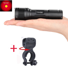 Rechargeable Portable Waterproof Flashlight  UniqueFire 1506 XP-E Red Light Battery 18650 Flashlight Torch Bicycle Accessories
