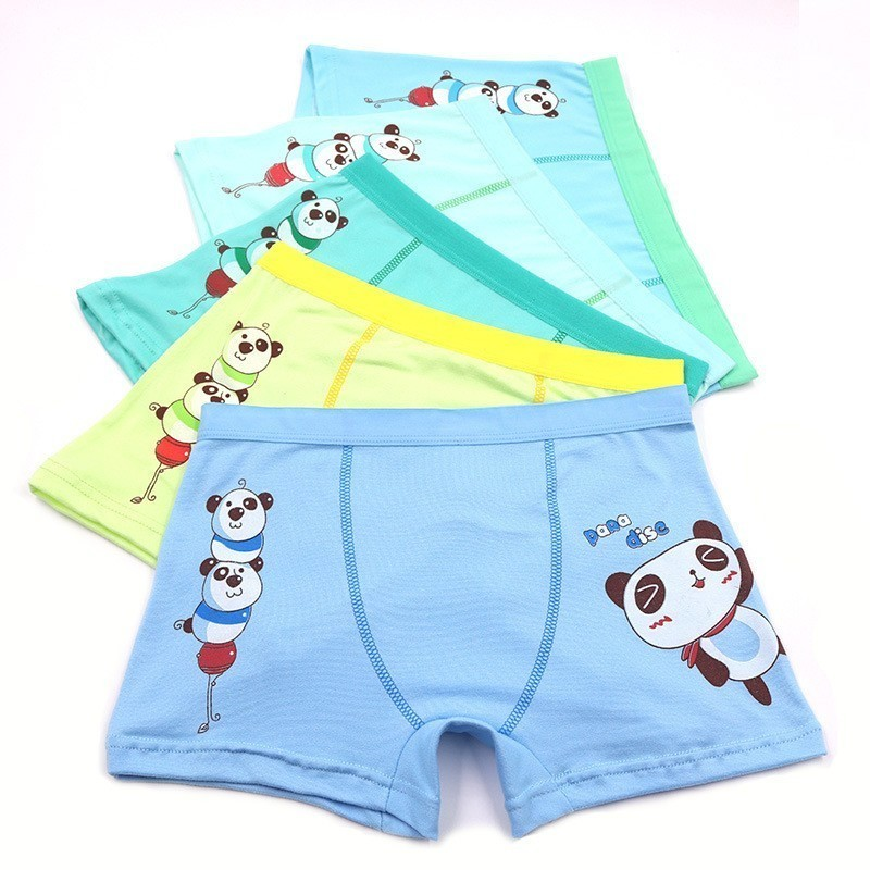 5 Unids lot Boxer Garcon Underwear Soft Boys Underwear Baby Boys Clothes 6 13 And Panti Underwear in Panties from Mother Kids