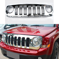 Wotefusi Front Center Frame Grille Grid Guard Trim Cover  For Jeep Patriot  2011 2012 2013 2014 2016 [QP1035]|Racing Grills|Automobiles & Motorcycles -
