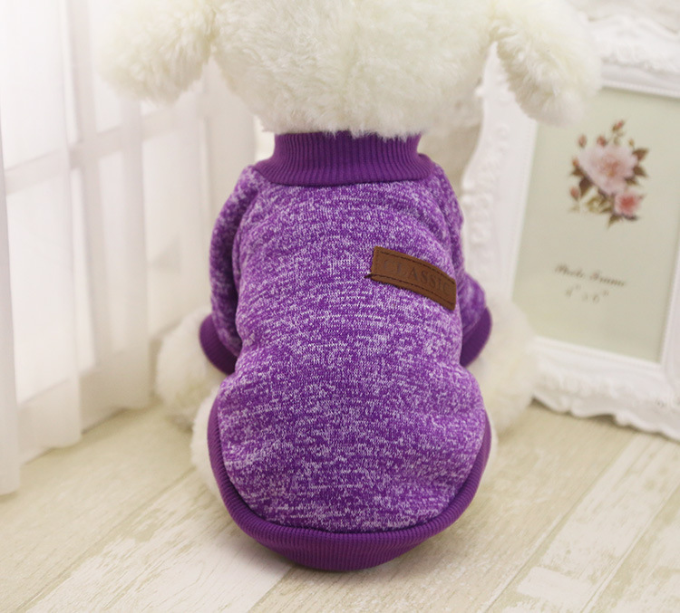 Classic Warm Dog Clothes Puppy Pet Cat Jacket Coat Winter Fashion Soft Sweater Clothing For Small Dogs Chihuahua XS-2XL 25S1 16