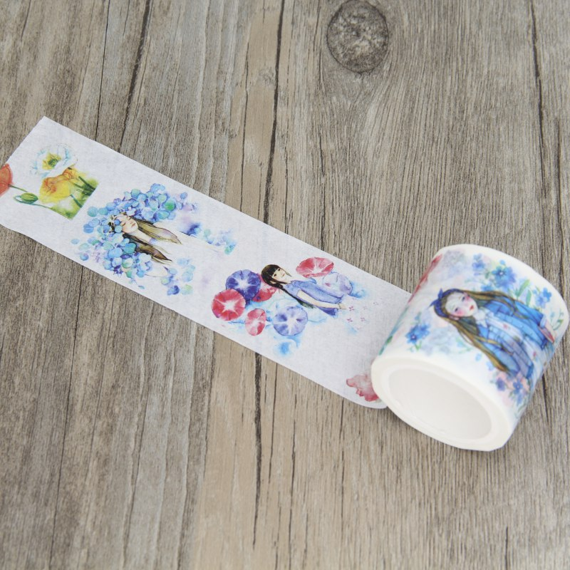 Beautiful Watercolor Girl Illustration Washi Tape Nice Gift Masking Tapes Book Decorative Stickers набор nice girl набор