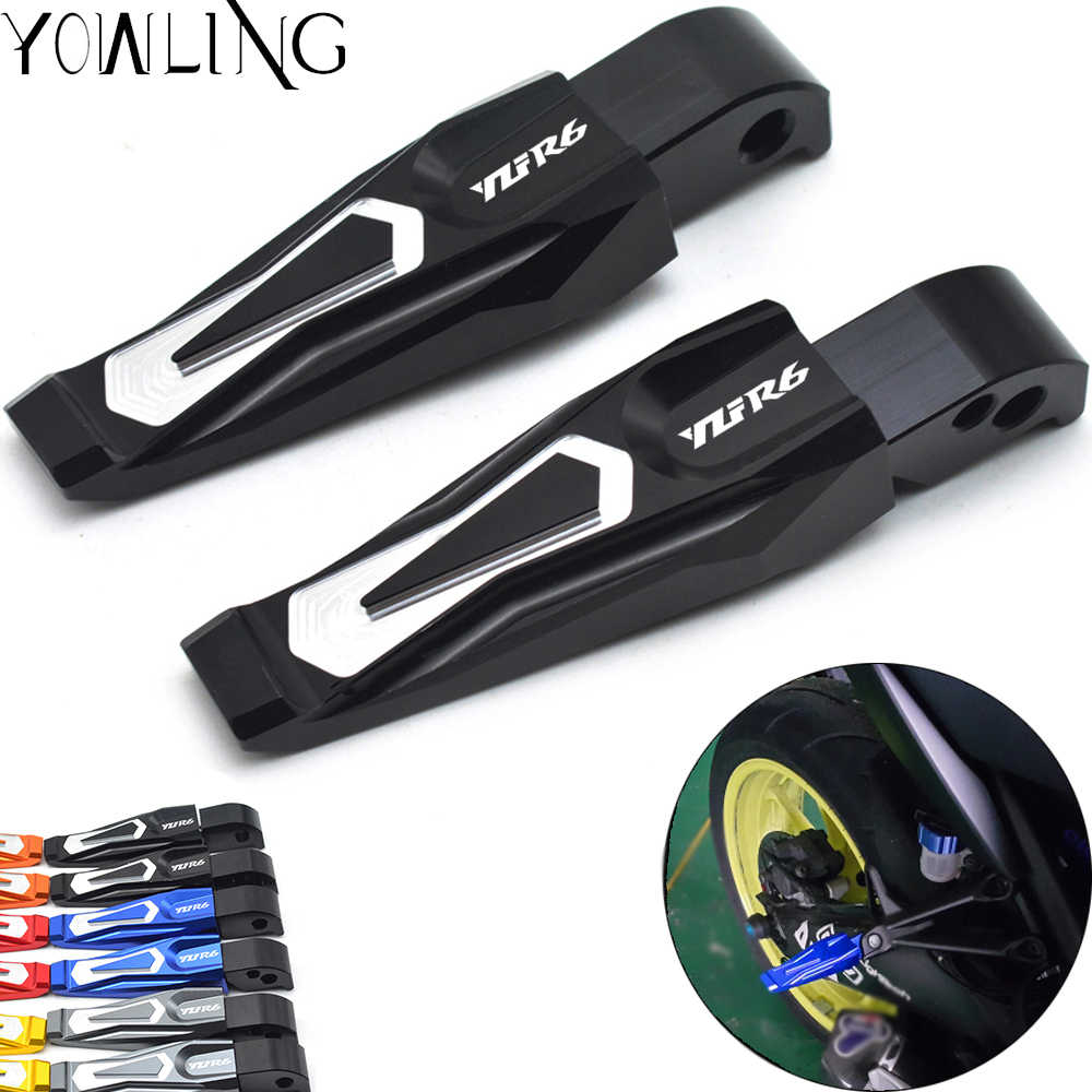 For Yamaha YZFR6 YZF R6 YZF-R6 1999-2008 2003 2004 2005 2006 Motorcycle Rear Foot Pegs Passenger Foot Peg Pedal Step Footrests