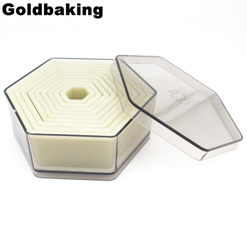 9 Piece Hexagon Shaped Biscuit Cutter Cookie Cutter Molds Set