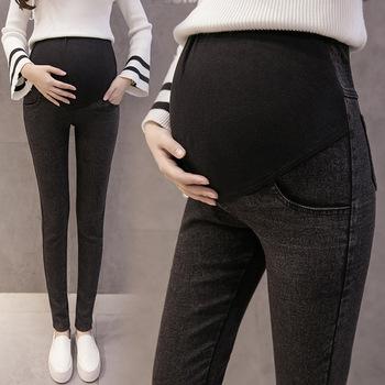 Envsoll M-3XL jeansy ciążowe dla kobiet w ciąży spodnie ciążowe ubrania ciążowe wiosna lato 2018 spodnie ciążowe Plus rozmiar tanie i dobre opinie Macierzyństwo WOMEN Elastyczny pas Poliester COTTON Enzym prania Kolorowe light Stonewashed skinny Denim Natural color