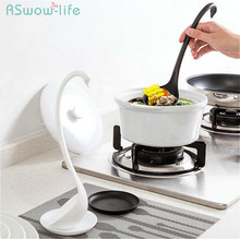 Creative swan with tray can be vertical spoon big kitchen cutlery long handle soup spoons for Tableware