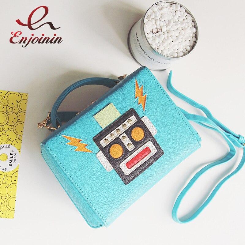 ФОТО Fashion stars robot cartoon lips cartoon shape modeling pu handbag ladies personalized shoulder bag casual mini postman package