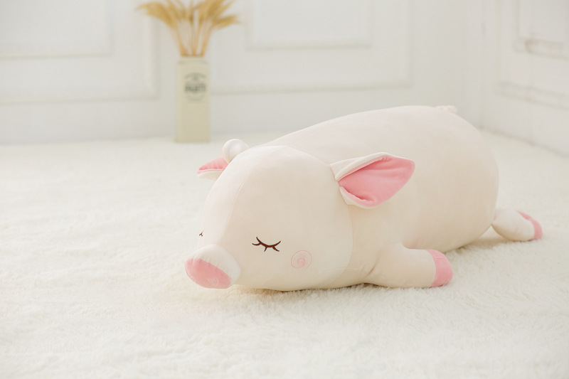 small cute plush pig toy stuffed white pig doll gift about 45cm