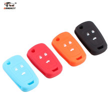 34150e24a31 DANDKEY 10PCS Car Key Silicone Protect Cover 3 Button for Chevrolet Cruze  2009-2014 Sedan Hatchback Flip Folding Key Rubber