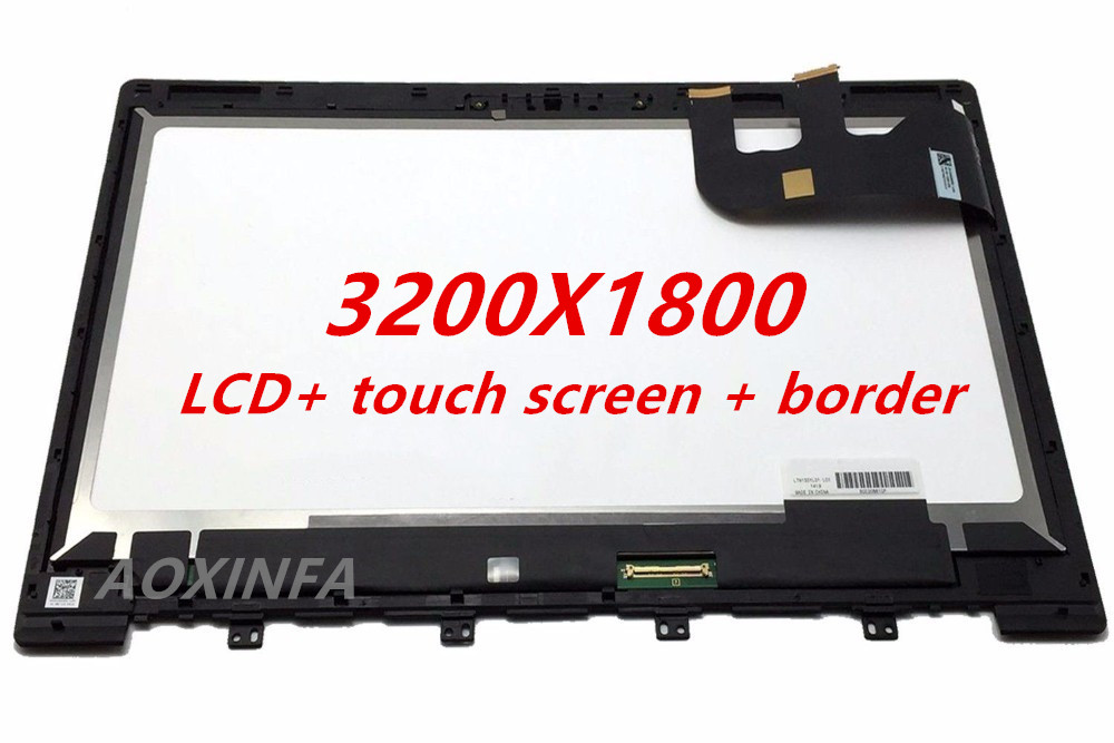 Free Shipping For  Zenbook UX303 13.3 Inch 3200*1800 New LCD Display Panel Touch Screen Assembly With Frame Replacement