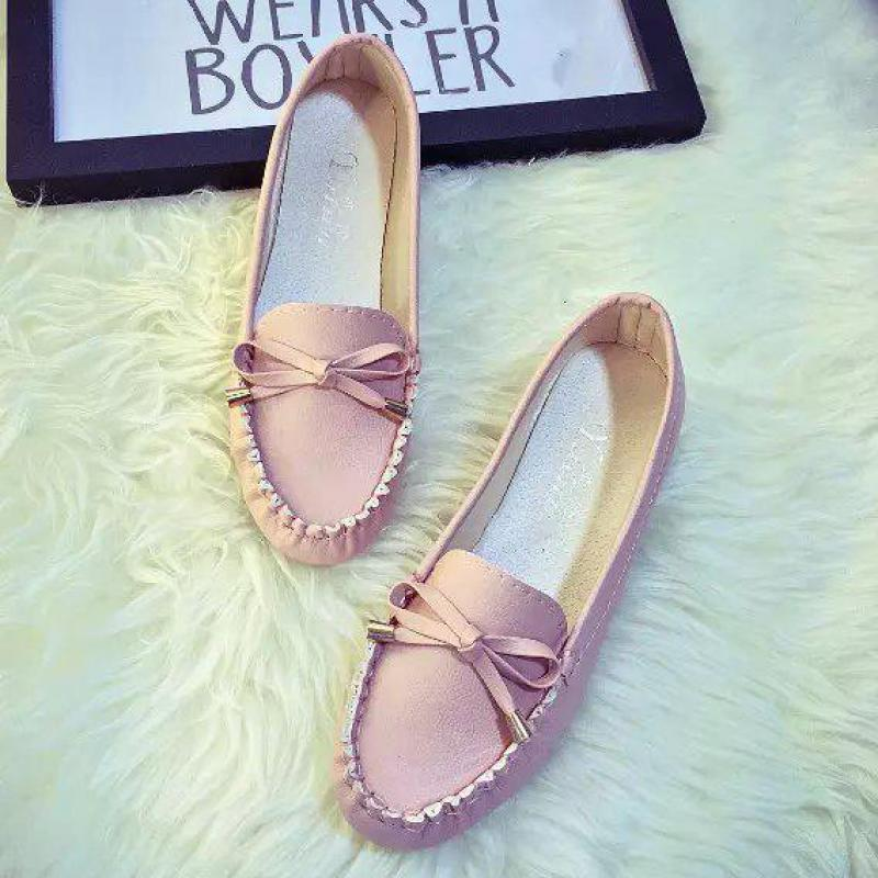 Ballet Flats Shoes Women Bow Boat Shoes 2018 Slip On Square Toe Flats Ladies Flat Fashion Comfortable Four Seasons Driving Shoes new arrival soft leather shoes women flats fashion design square toe comfortable women s flats office ladies brand shoes