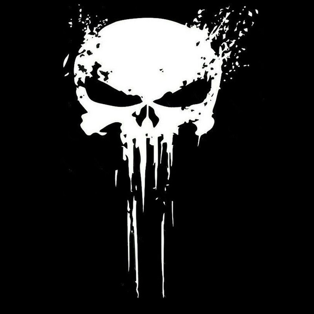 10CMX15CM PUNISHER Skull BLOOD Vinyl Car Decals Stickers Motorcycles Decoration Black/Silver C1-3140 1
