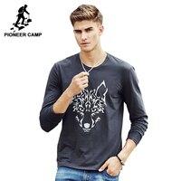 Pioneer camp 2017 marka yeni bahar güz moda casual stil erkek Uzun Kollu T Gömlek Pamuk tshirt tişört Erkek 622145