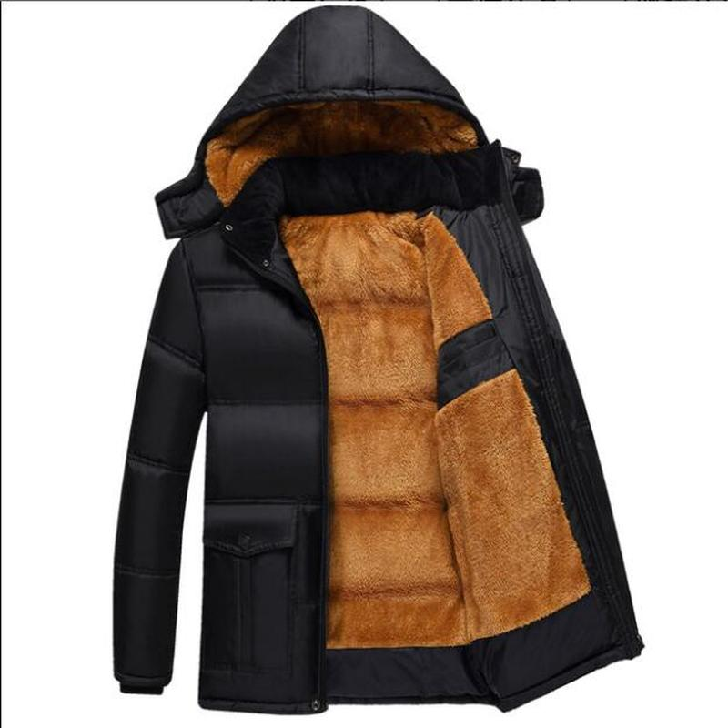 Men's Winter Warm Parkas Jackets Mens New Fashion Casual Slim Large Size Solid Jcakets High Quality Cotton Coat Jackets Size5XL