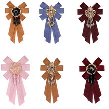 ZHINI Bow Brooches Classic Retro knot Cloth Statement Fashion Women Jewelry Chinese Style Handmade Brooch Clip Up Pin Collar(China)