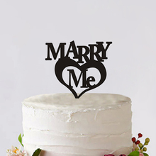Marry Me Cake Topper Custom With Big Heart Letter Cake Topper For Party Decoration