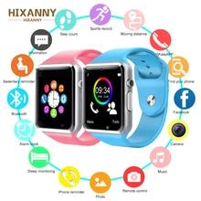 Купить с кэшбэком HIXANNY A1 Smart Watch Clock Sync Notifier Support SIM TF Card Connectivity Apple iphone Android Phone Smartwatch PK GT08 U8