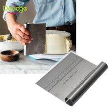 Delidge 1 шт. из нержавеющей стали для пиццы, скребок для теста, резак для выпечки, лопатки для теста, помадка, инструменты для украшения торта, кухонные аксессуары