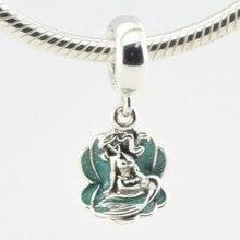 Ariel A Shell Beads Adapta Pandora Charms Pulseras Mujer Joyería Disny Original Esterlina Encantos de Plata 2016 Joyas de Primavera