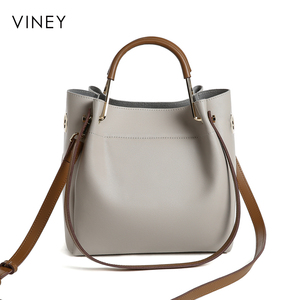 Image 3 - Viney דלי תיק אישה 2019 חדש צ או קוריאני גרסה Baitao אלכסון תיק אישה תיק אופנה פשוט יד ביל כתף תיק