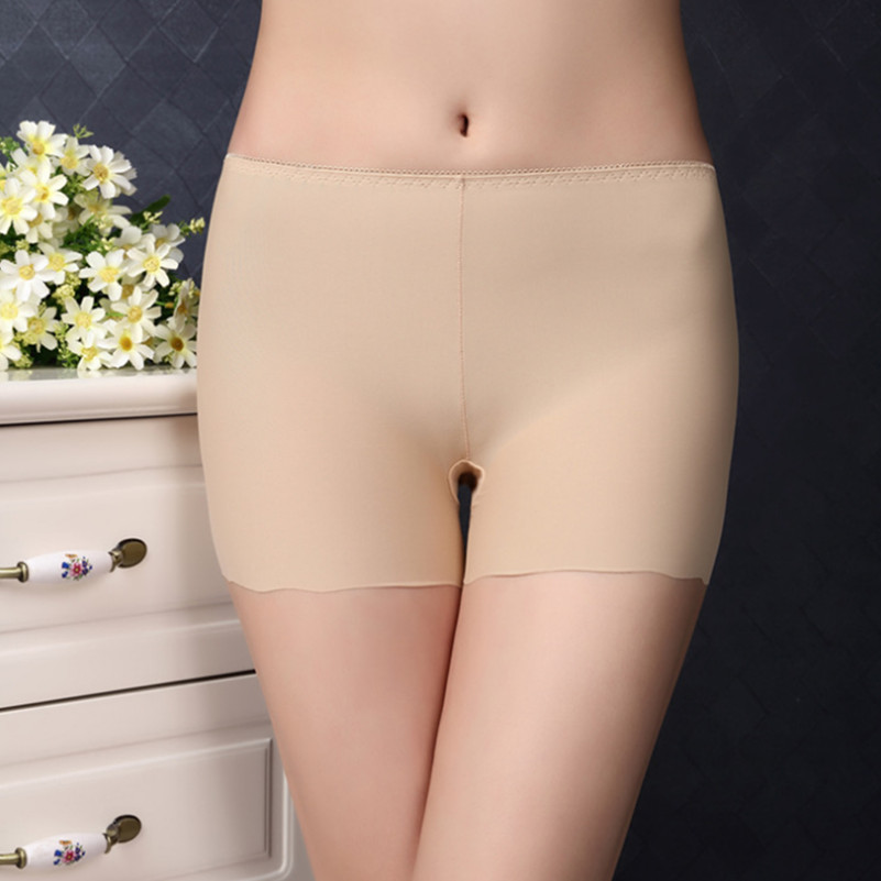 2018 New Arrival Summer Women Seamless Safety Pants Plus Size Ice Silk Boy Shorts Boxer Sexy Female Briefs Panties Hot Underwear