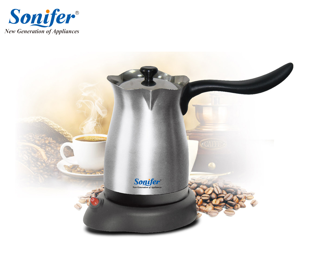 304 Stainless Steel Coffee Machine Turkey Coffee Maker Electrical Coffee Pot Coffee Kettle Sonifer fast food leisure fast food equipment stainless steel gas fryer 3l spanish churro maker machine