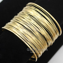 Urban Wrap Layer Thin Wire Wide Mod Band Bracelet Bangle Cuff Fancy Dress Gift Jewelry 2018 New(China)