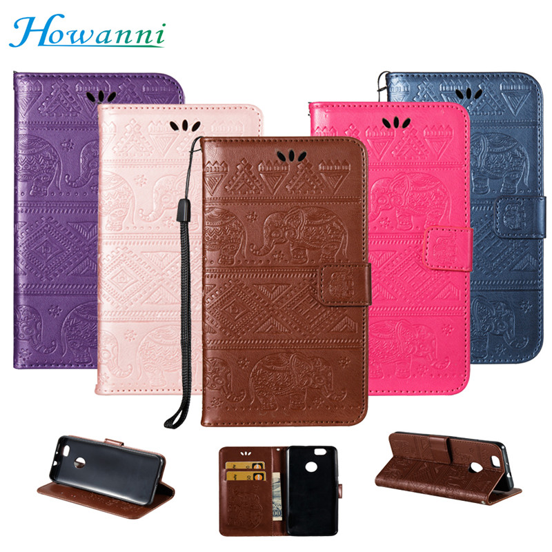 Howanni Elephant Leather Case For Samsung Galaxy A7 2017 Case Flip Wallet Case for Samsung A3 A5 A7 J1 J3 J5 J7 S6 S7 2016 2017