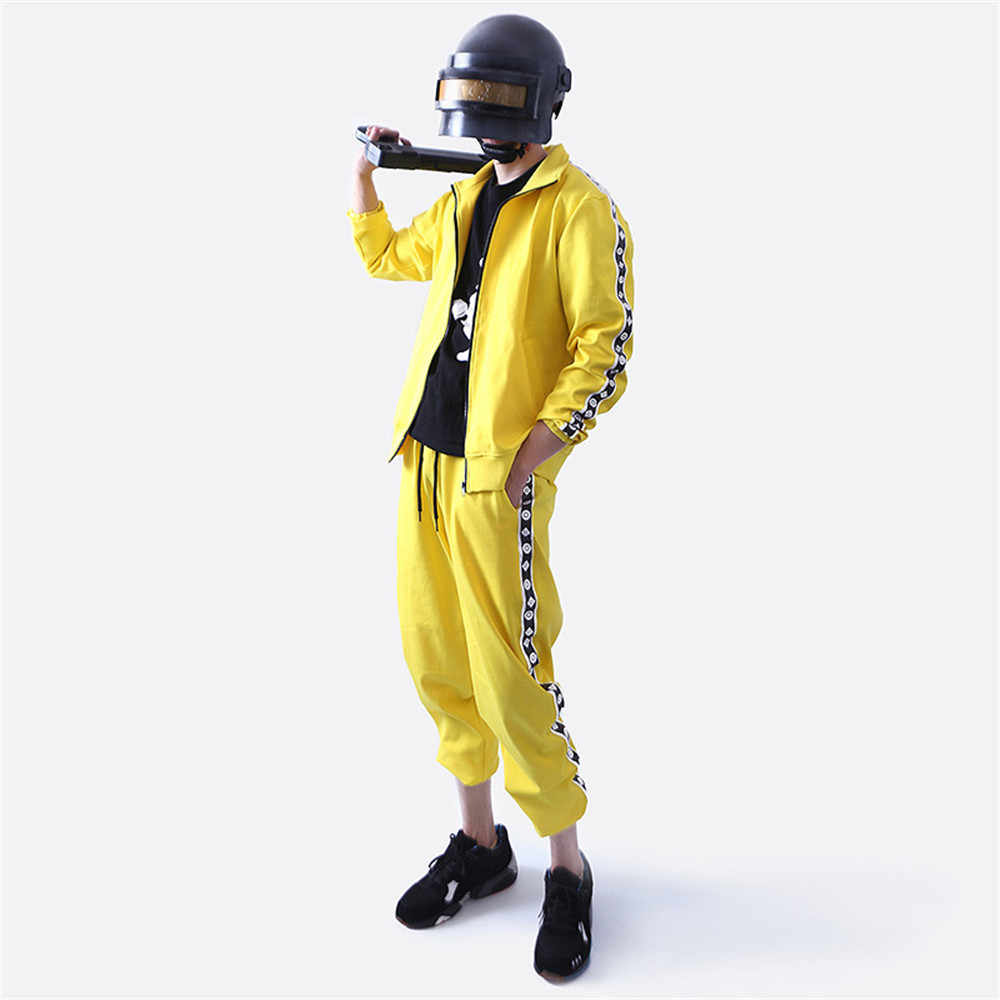 PUBG Game Playerunknown's Battlegrounds Cosplay Costume Small yellow