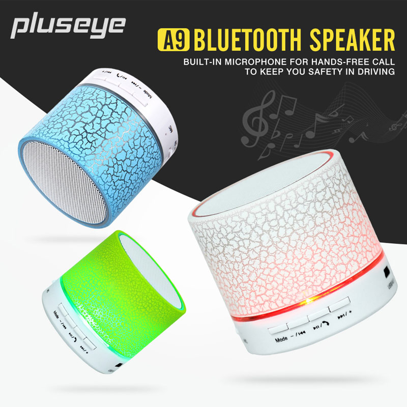 Bluetooth Wireless A9 Speakers Mini Portable LED Smart Handsfree Caixa De Som Support  TF Card Altavoz For iphone huawei