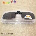 Без оправы Вс Оттенки Поляризованный Серый Очки На Открытом Воздухе Очки Солнцезащитные Очки Клип Ons