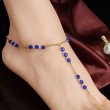 Богемия лодыжке браслет для женщин Браслеты для ног на ноги девушки буле бисера ног цепь золотая цвет ювелирные изделия верхнего качества a75