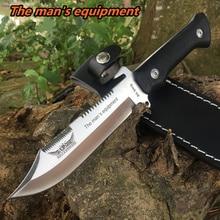 Для мужчин оборудования высокой твердостью тактика ножи Открытый Охота боевой ножи для кемпинга фиксированным лезвием для шашлыков выживания