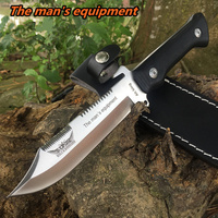 men equipment High Hardness Tactics Knife Outdoor Hunting Combat Camping Knifes Fixed Blade Knives Survival Knife Rescue Tools