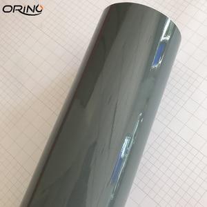 Image 2 - Cement Grey Ultra Gloss Vinyl wrap cement Glossy Nardo Gray Car Wrap Film Coveres with air Free 10/20/30/40/50CMX152CM