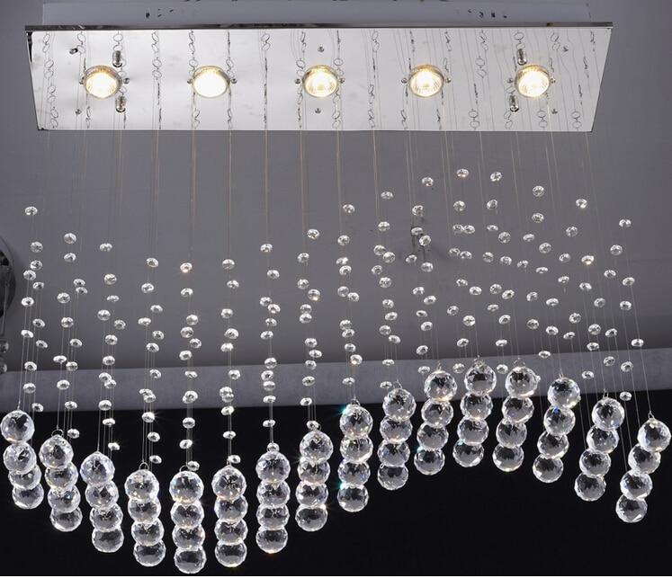 New luxury k9 crystal modern wave pendant light lamp raindrop neue luxus k9 kristall moderne welle pendelleuchte lampe regentropfen suspension beleuchtung lampen restaurant bar esszimmer aloadofball Gallery