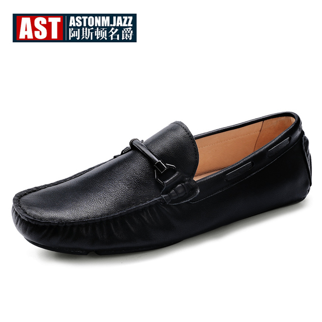 Men's Leather Slip On Driving Car Soft Loafers Shoes